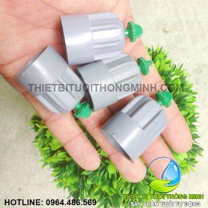 Béc nhựa phun mưa 360 (gắn ống 21 tưới rau, cây, cỏ)