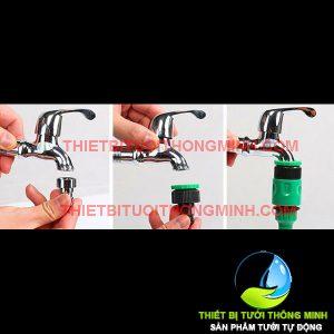 Bộ đầu nối ren trong 21mm(vòi nước romine) sang đầu nối ống 10mm