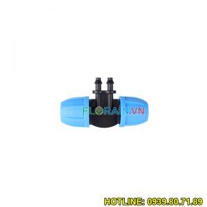 Tê nối ống 12mm chuyển 2 đầu ống 6mm Florain (nhựa cao cấp thái lan)