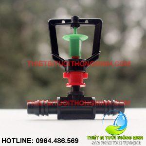 Bộ béc phun mưa xoay tròn 360 độ đầu nối ống 10mm (nhập khẩu úc loại tốt)