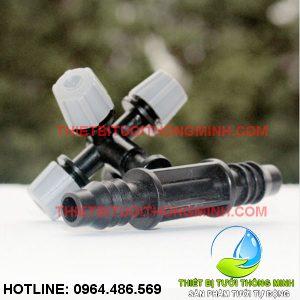 Bộ béc phun sương 4 hướng xám kèm đầu nối ống 10mm (nhập khẩu úc loại tốt)