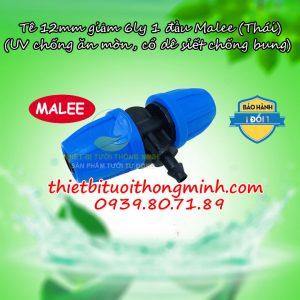 Tê nối ống 12mm chuyển ống 6mm Malee