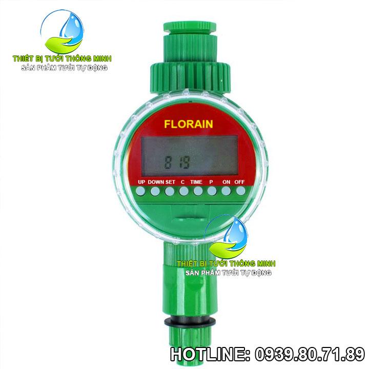 Van nước hẹn giờ tưới tự động dùng pin Florain