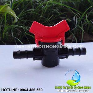 Van khóa nối 2 đầu ống 12mm Florain (nhựa cao cấp)