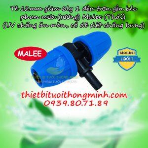 Tê nối ống 12mm gắn béc trơn 6mm Malee