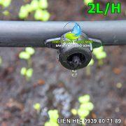 Béc tưới nhỏ giọt bù áp 2 lít/h (nhựa cao cấp thái lan)
