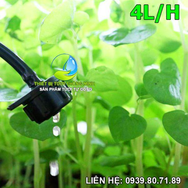 Béc tưới bù áp 4 lít/h (nhựa cao cấp thái lan)
