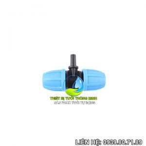 Tê nối ống 10mm gắn béc trơn 6mm