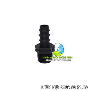 Nối ống 16mm 1 đầu ren ngoài phi 21 FLorain (nhựa cao cấp)
