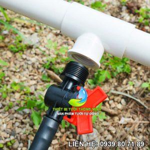 Van khóa 1 đầu ren ngoài 21 nối 1 đầu ống 16mm