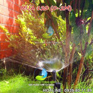 Đầu tưới phun mưa xòe 120 độ Florain cắm gốc