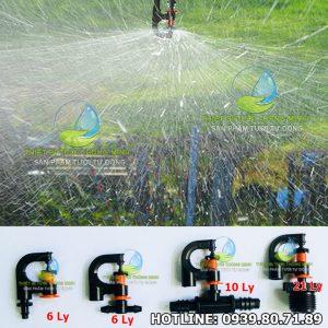 Đầu tưới phun mưa xoay tròn đều 360 độ Florain