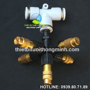 Đầu béc phun sương 5 hướng đồng ống 8mm cao cấp STNC