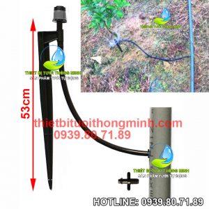 Bộ đầu phun nước 360 độ tưới cắm gốc khởi thủy khoan ống cứng pvc Florain