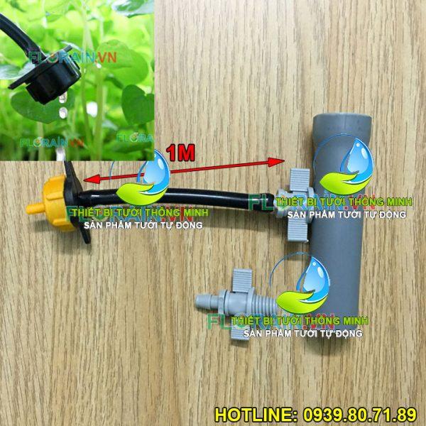 Bộ dây tưới nhỏ giọt béc bù áp tưới gốc khởi thủy 6mm ống cứng pvc Florain cao cấp