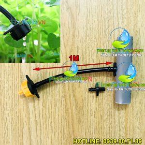Bộ khởi thủy dây ống đầu tưới nhỏ giọt bù áp Florain khoan ống cứng pvc