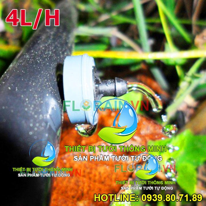 Đầu tưới nhỏ giọt bù áp 4 lít/giờ isarel cao cấp