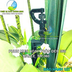 Đầu tưới cắm gốc phun nước mưa xoay 360 độ Malee SR-360