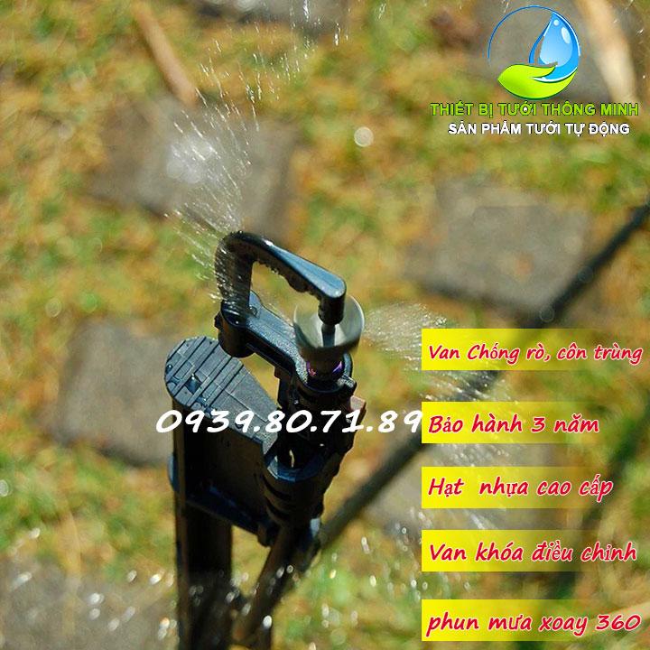 Đầu tưới phun mưa xoay 360 độ mini sprinkler POP-RV