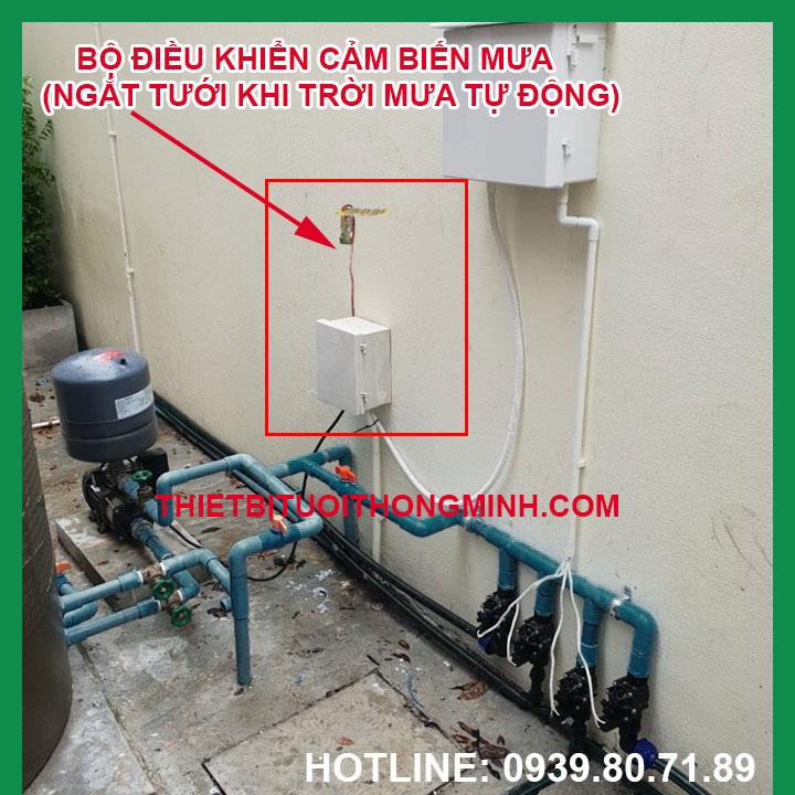 Bộ điều khiển cảm biến mưa ngắt tưới tự động khi trời mưa Malee tphcm