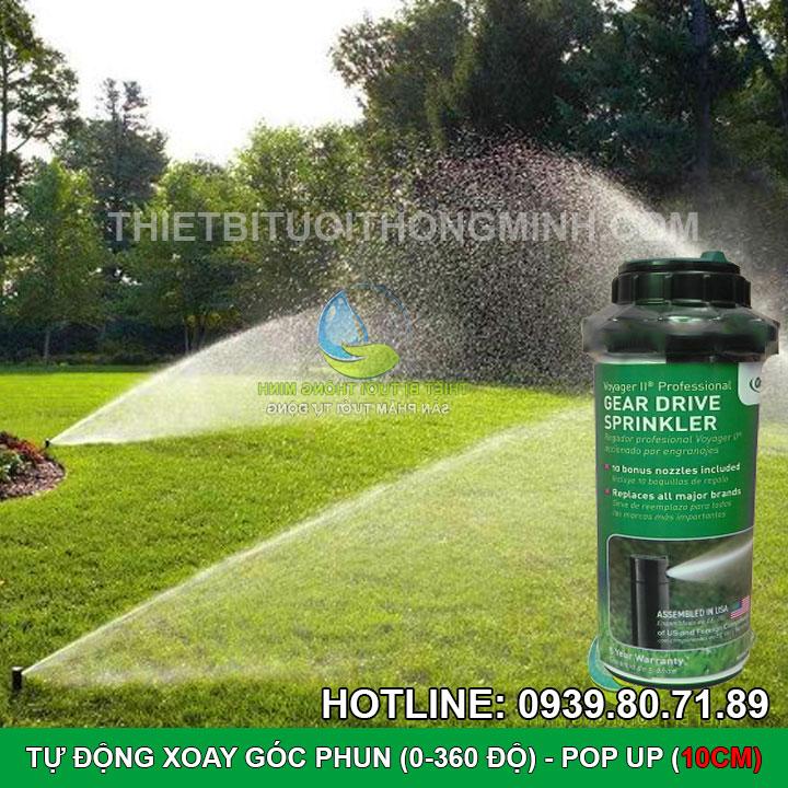 Đầu phun nước tưới cỏ tự động xoay pop up cao cấp