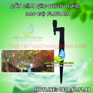 Đầu béc tưới cắm gốc phun nước 180 độ Florain