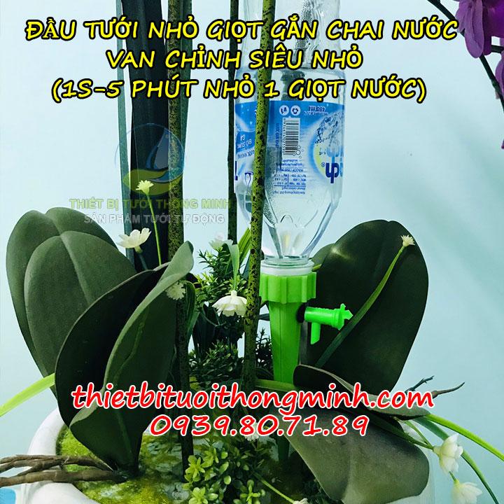 Bộ đầu tưới nhỏ giọt gắn chai nước điều chỉnh được FLorain
