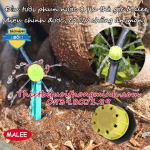 Đầu béc phun nước 8 tia thả gốc Malee thái lan