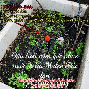đầu tưới phun nước 8 tia cắm gốc phun mưa
