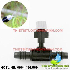Bộ béc phun sương 1 hướng xám kèm đầu nối ống 10mm (nhập khẩu úc loại tốt)