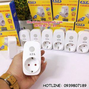 Ổ cắm điều khiển tưới từ xa bằng điện thoại wifi, 3G,4G smartphone thông minh ATA