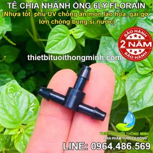 Tê nối ống 6mm Florain