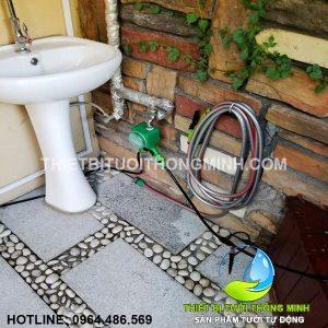 Lắp đặt tưới cây vào bồn cây kiểng tưới tiết kiệm nước tự động