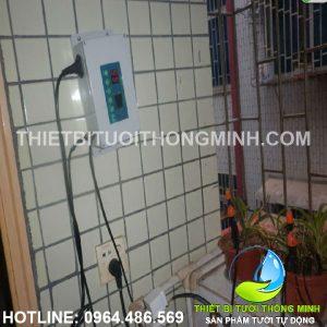 Lắp bộ điều khiển tưới tự động hẹn giờ van nước 12VDC ban công sau chung cư
