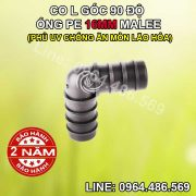 Co L nối ống 16mm pe Malee