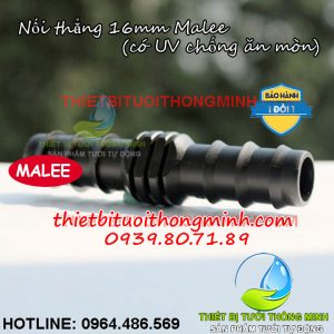 Nối thẳng ống 16mm pe Malee