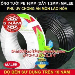 Ống nhựa PE 16mm Malee thái lan