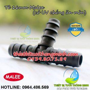 Tê nối ống 16mm pe Malee