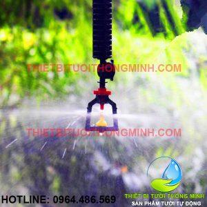 Bộ béc tưới phun mưa mịn 360 thả giàn (béc + dây+ chống rung + điều áp)