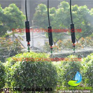 Béc phun mưa thả xoay tròn 360 độ (béc + dây + chống rung + điều áp)