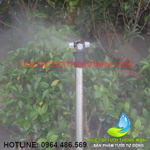 Bộ béc tưới phun sương 4 hướng cây cắm đất 45cm
