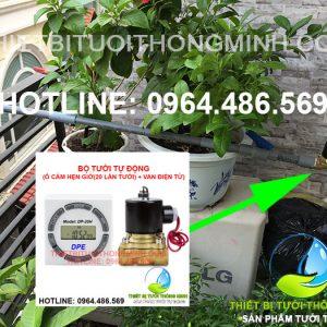 Bộ điều khiển tưới tự động (ổ cắm hẹn giờ DP-20H và van điện từ 220VAC)