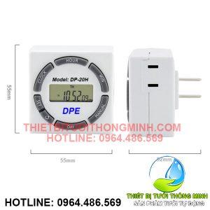 Ổ cắm hẹn giờ vuông DPE DP-20H (20 chương trình, 220VAC)
