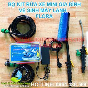 Bộ máy bơm rửa xe máy, ô tô, vệ sinh máy lạnh mini FLORA