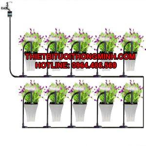 Bộ KIT 20 đầu tưới nhỏ giọt 8 tia FLORA (béc tưới điều chỉnh được)