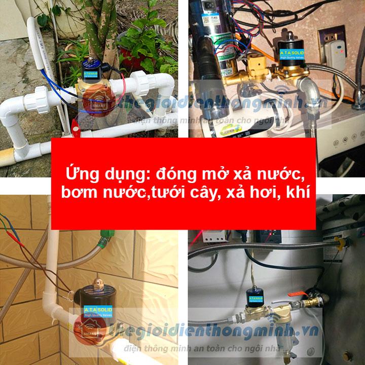 van điện từ chính hãng ata dùng điện nước 24vdc 220V