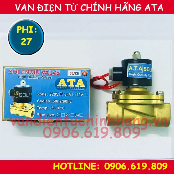 van điện từ chính hãng ata dùng điện 220v 24vdc nước