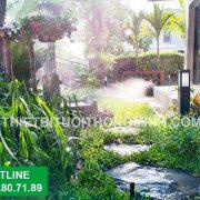 Tưới tự động cho biệt thự sân vườn tại tphcm