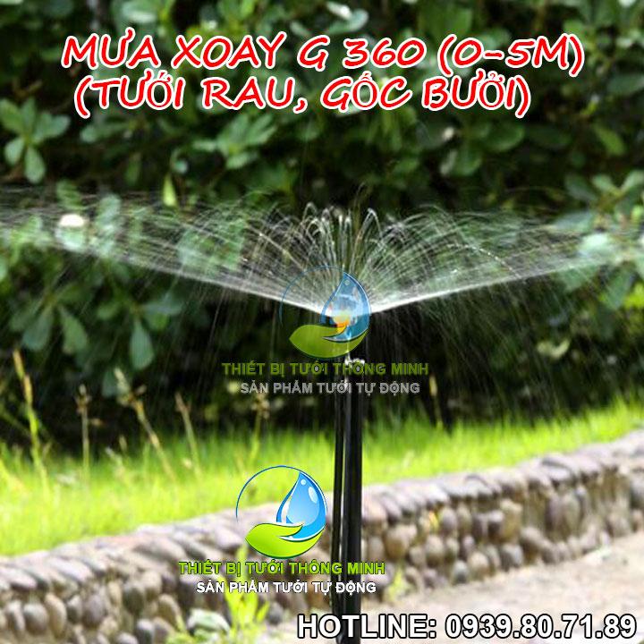 Đầu béc tưới phun mưa cục bộ xoay G 360 Florain