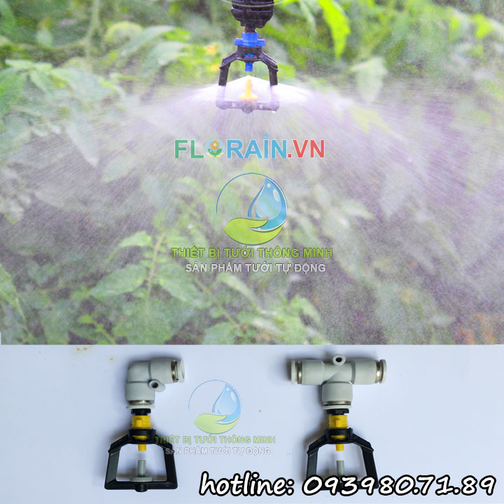 Béc phun sương tưới lan 360 độ gắn ống 8mm STNC